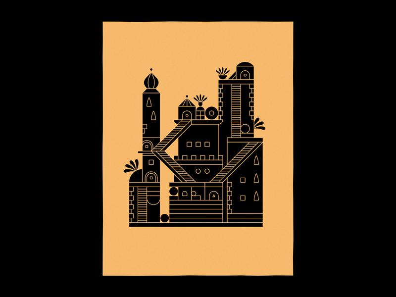 Castle videogame building vector illustration plant valley monument castle structure