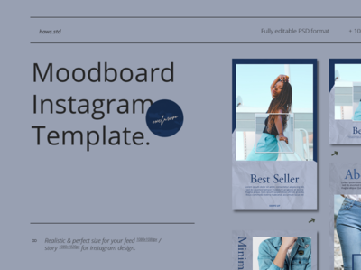 Moodboard Instagram Template hypebeast social media templates social media pack instagram template instagram stories advertising branding social media illustrations graphic digital design templatedesign snapgram instastory instagram template media social