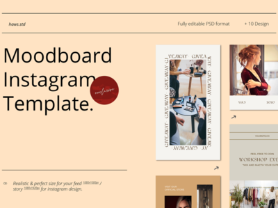 Moodboard Instagram Template event promotions snapgram instastory template socialmedia social illustratuions graphic digital hypebeast social media templates social media pack social media instagram template instagram stories instagram advertising branding design