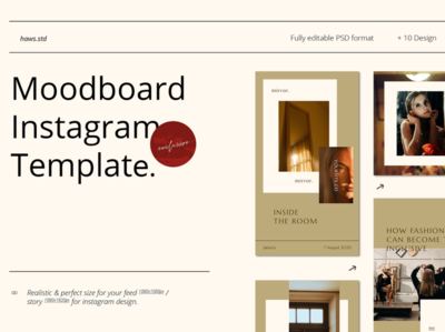 Moodboard Instagram Template social network social media pack social media instagram template instagram stories advertising branding design clean event promotions graphic digital templatedesign snapgram instastory instagram template socialmedia social