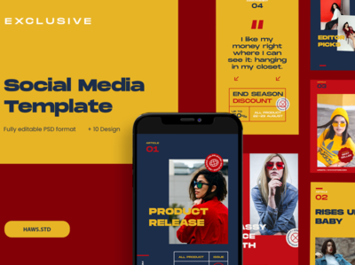 Social Media Template promotions creator illustrations graphics digital scene card mockups layout presentations hypebeast social media templates social media pack social media instagram template instagram stories instagram advertising branding design