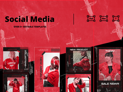 Social Media Template moodboard html promotions creator illustrations graphics digital scene card mockups layout presentations social media instagram template instagram stories instagram advertising branding design