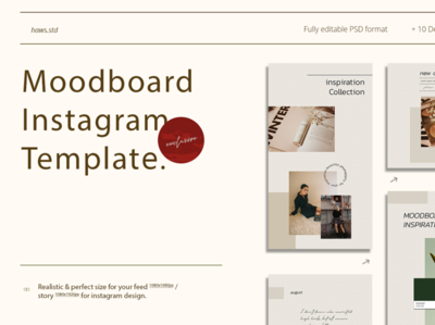 Moodboard Instagram Template moodboard html promotions creator illustrations graphics digital scene card mockups layout presentations social media instagram template instagram stories instagram advertising branding design