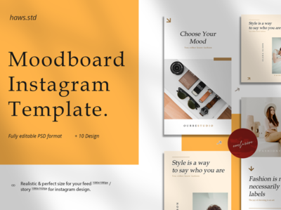 Moodboard Instagram Template promotions creator illustrations graphics digital scene card mockups layout presentations hypebeast social media templates social media pack social media instagram template instagram stories instagram advertising branding design