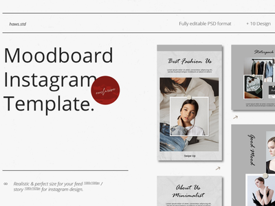 Moodboard Instagram Template clean ui social media templates social media pack social media instagram template instagram stories advertising branding clean event promotions graphic digital design snapgram instastory instagram template media social