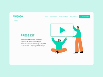 Press Kit webdesign illustration design ux ui ui ux design