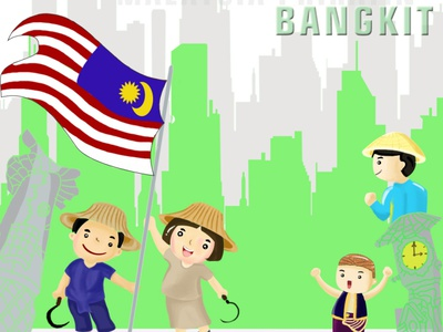 Malaysia Prihatin_ASEDAS bangkit covid-19 indonesia malaysia vector poster design independence day bright color design illustration