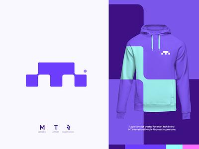 MT Logo Concept modern logo branding design brand design mark logotype logos logo logo design design branding