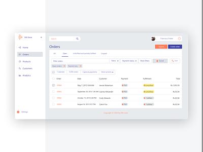 Store Admin Dashboard admin dashboard webapp design website dashboard uxdesign ux minimal design app
