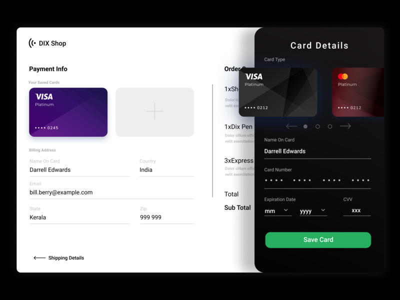 Checkout Flow- Add New Card ui app web design ux design daily 100 challenge oo2