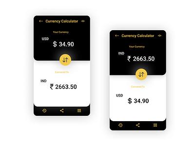 Currency Calculator 004 minimal mobile app app design ux dailyui