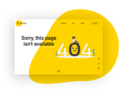 404 web page illustration typography web design ui daily 100 challenge design minimal ux 404 page 008 dailyui