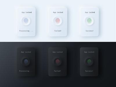 Flash Message Neumorphic Design(Fingerprint Scanner) app minimal design typography neumorphism daily 100 challenge ux ui neumorphic 011 dailyui