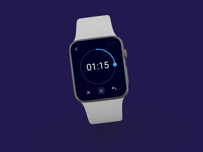 Countdown Timer Design-Apple Watch design app ui ux apple watch typography daily 100 challenge minimal 014 dailyui