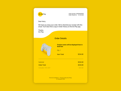Email Receipt typography design email daily 100 challenge 017 dailyui ux minimal