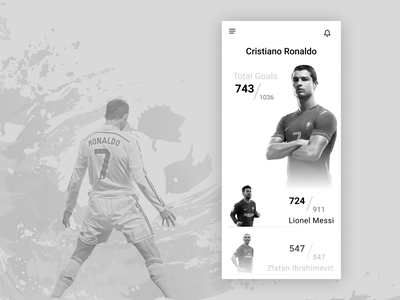 Leaderboard-sports sports football player football leaderboard mobile app design 019 dailyui typography illustration app ux minimal