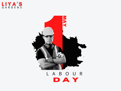 May Day 2021 minimal black red white may day poster design poster art poster branding