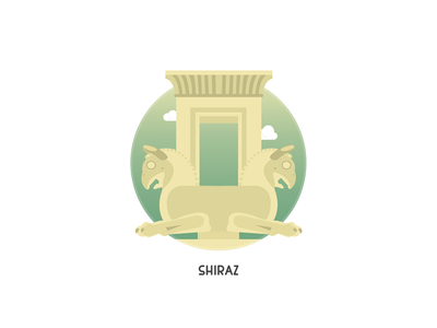Persepolis: Apadana Palace Badge iran palace ancient badge color illustration persian persepolis vector art