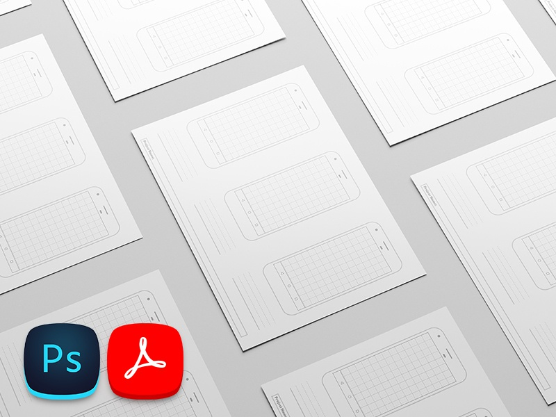 Free Printable Google Pixel Template printable wireframe specs sketch prototype nougat material android template freebie free pixel