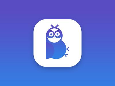 Be a Pro Icon identity b ui gradient logo photoshop illustrator illustration icon owl branding app
