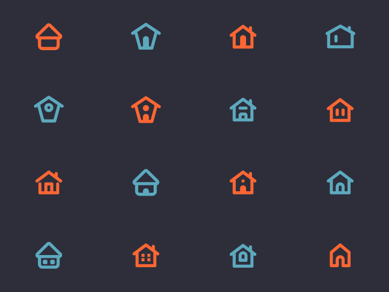 02 home icons circular dribbble
