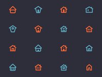 HOME Icons for user interfaces - 02