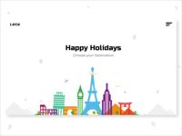 Happy Holidays Travel UI Landing Page Design.