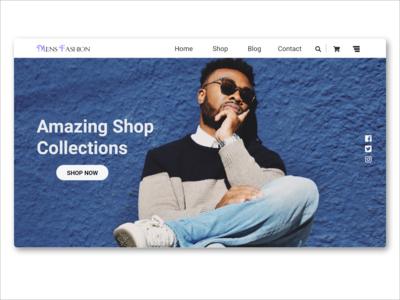 Mens Fashion UI Landing Page Design
