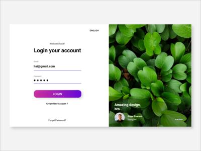Login UI Landing Page Design