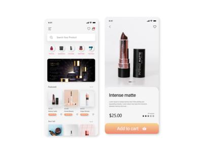 Cosmetics app Design