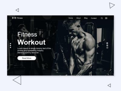 Fitness UI Landing Page Design