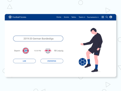 Football Scores UI Landing Page Design