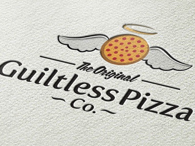 Guiltless Pizza Logo Design logo design pizza new york branding