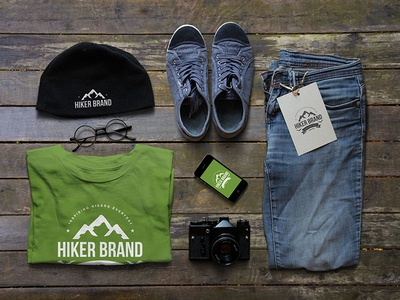 Hiker Clothing Brand logo design branding t-shirt design clothing branding
