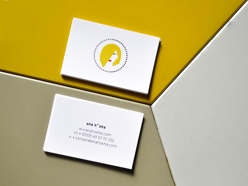 anah•xha˚com ˚ selfpromotion anahoxha self promotion print print design minimal business cards illustration dots flat design graphic design albania