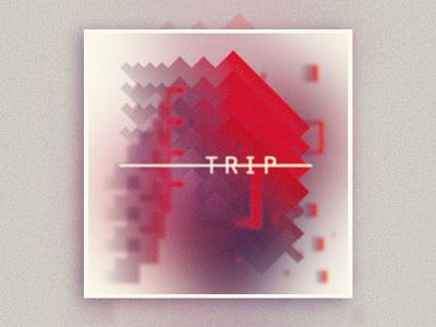 Trip - Playlist Cover cover layout anahoxha typoghropy trip-hop geometric gradient graphic design design playlist mixtape soundcloud