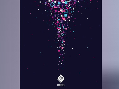 DC/OS Poster Launch - Mesosphere anahoxha layout poster space geometric gradient cosmos design illustration