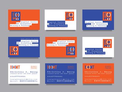 ECCWT - Branding layout design business card brush monospace logo modular creative playful brand identity identity layout branding