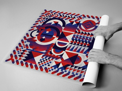 Behance Review_ Poster   layout poster geometric gradient design illustration print colorful flat flat design vector