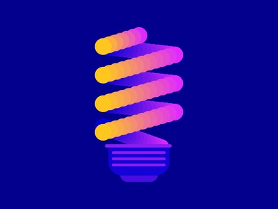 Energy Efficiency - LED lighting illustration efficiency energy gradient flat design design flat vector minimal led bulb