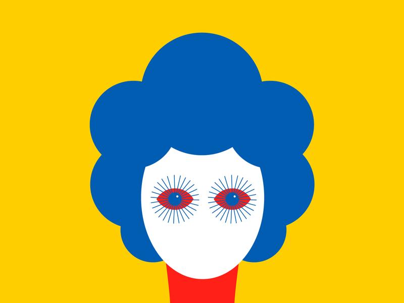 Red Eyes Illustration colorfull vectors landing art flat design 2d characterdesign home illustrator hair colour palette illsutration child colorful character design flat vector minimal illustration