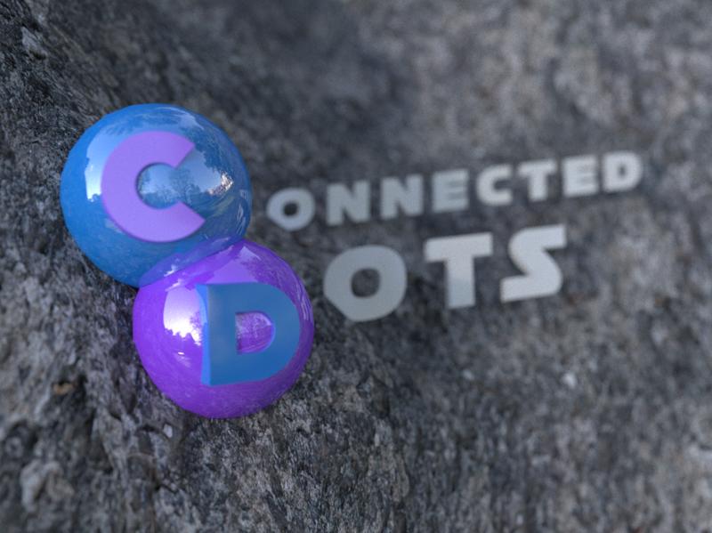 Connected Dots 3D Presentation creative branding