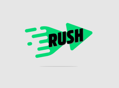 Rush minimal design creative logo flat vector branding