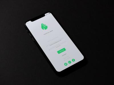 Tropical Drop App UX/UI Concept minimalist app app design uxui ux design ui design ux ui ux  ui design flat vector branding
