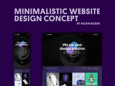 Connected Dots webdesign website design ux ui illustrator minimal creative design flat vector branding