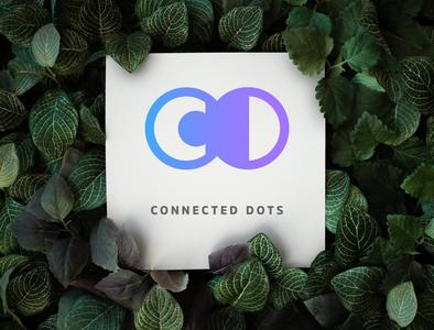Connected Dots illustrator minimal design vector logo flat branding
