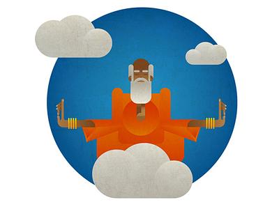 thinker thinker illustration vector texture sky