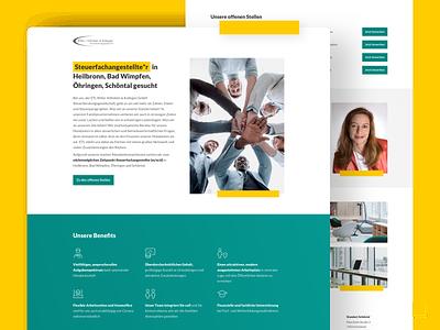 Jobpage for a Tax Office design conversion landingpagedesign düsseldorf ux ui marketing landingpage land