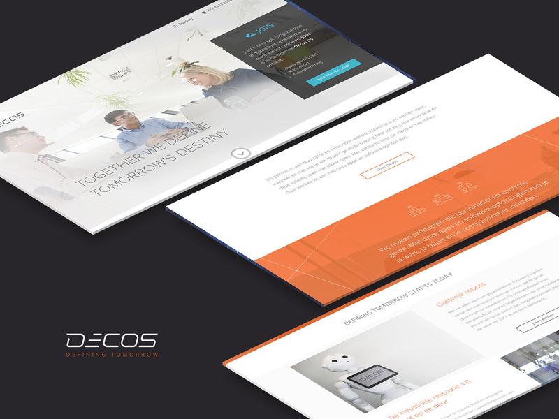 Decos | marketing website | storytelling illustrations story telling photography photo background film web webdesign branding identity amsterdam design