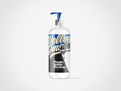 Cosmetic Bottle with Pump Mockup visualization packaging package pack mockups mockup design branding 3d